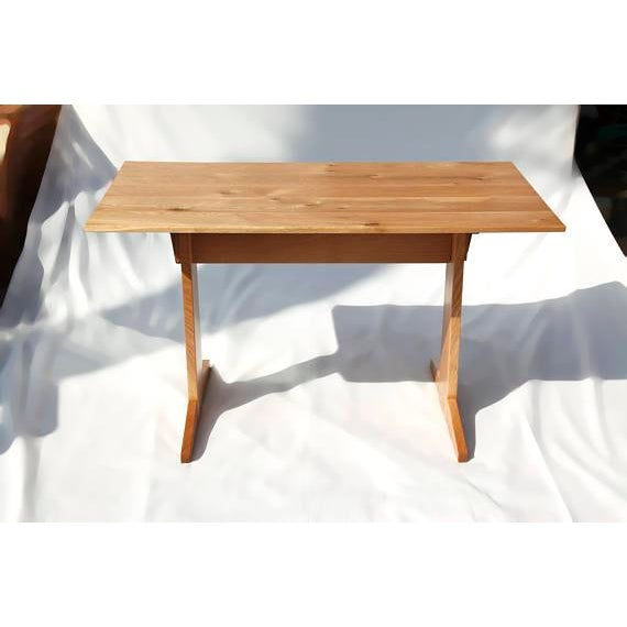 Japanese Style Trestle Table & Bench - A Pair - Image 3 of 11