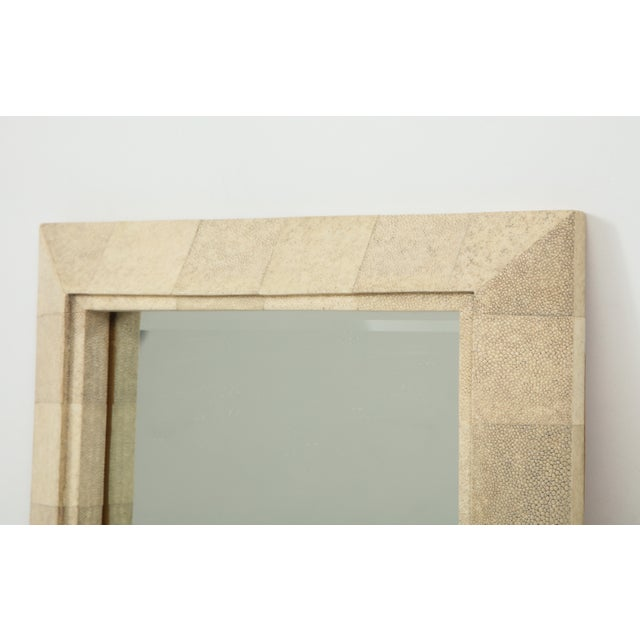 R & Y Augousti R & Y Augousti Mirror With Shagreen Frame For Sale - Image 4 of 10