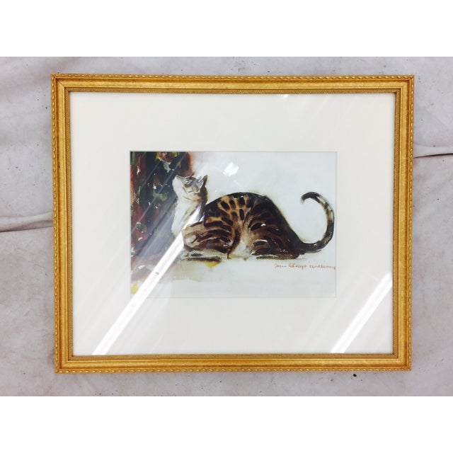 Tabby Cat Watercolor Print in Gold Frame - Image 3 of 7