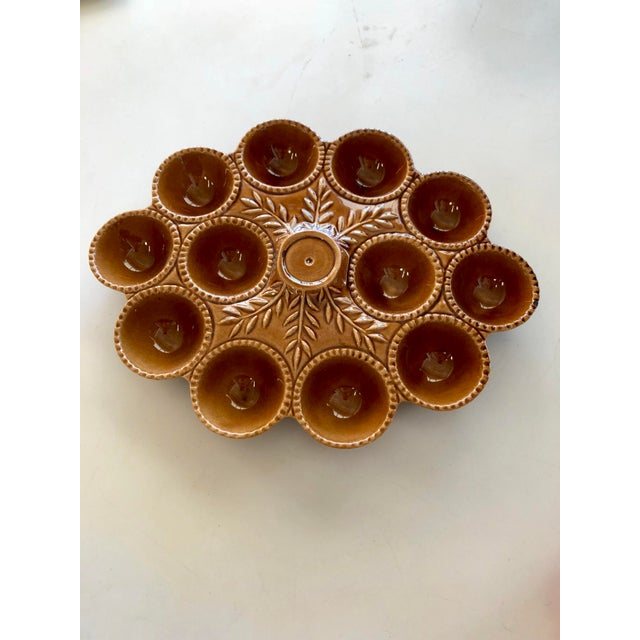 Vintage California Pottery Ceramic Deviled Egg Serving Dish For Sale In Charleston - Image 6 of 6