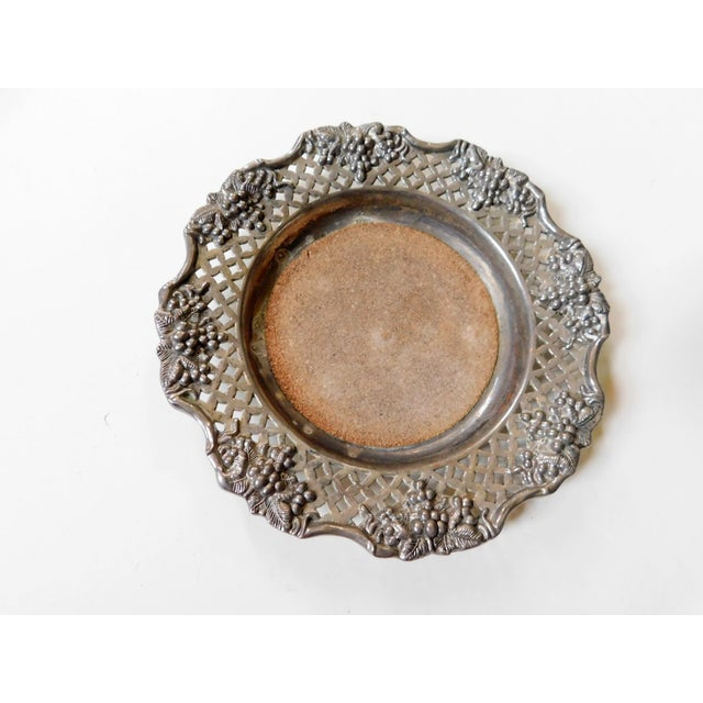 This sweet Coaster with a Grape Motif is signed 'Godinger' on the back side. Classy way to display chilled wine so you...
