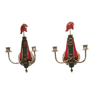 1950s Italian Shabby Chic Sconces A Pair For Sale