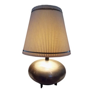 Currey & Company Hammered Steel Ovoid Table Lamp