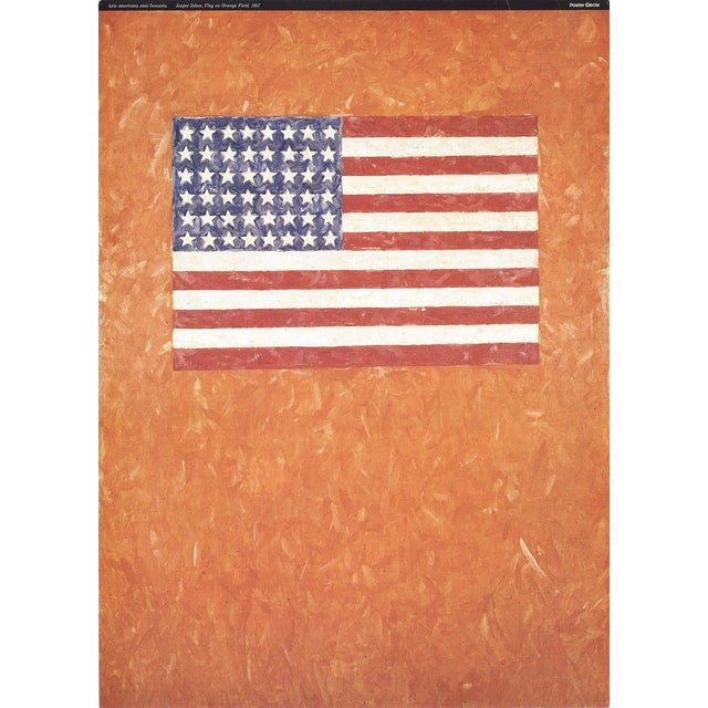 Jasper Johns-Flag On Orange Field-1996 Poster - Image 1 of 3
