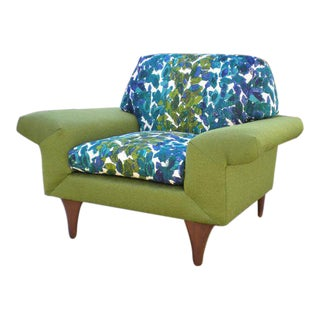 Mid Century Modern Flexsteel Lounge Chair For Sale