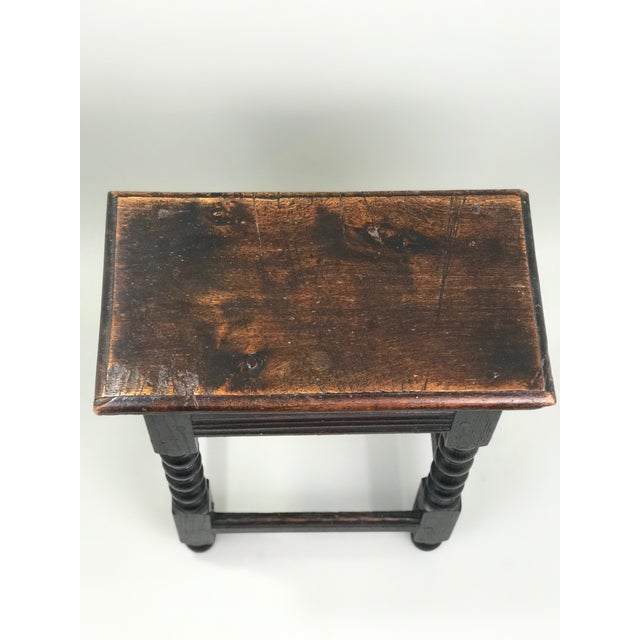 19th Century Transitional Oak Stool/Side Table For Sale - Image 4 of 6