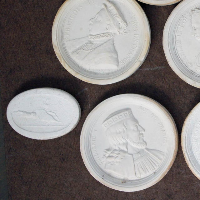 Portraiture Small Antique Plaster Cameo For Sale - Image 3 of 4