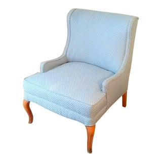 Vintage Periwinkle Slipper Lounge Chair