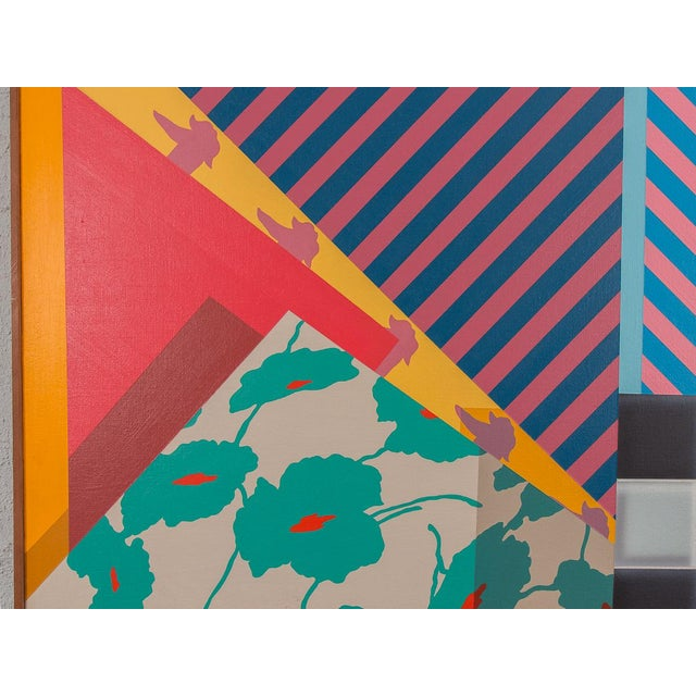 Memphis Trio of Large-Scale 1980s Abstract Paintings - 3 Pieces For Sale - Image 3 of 10