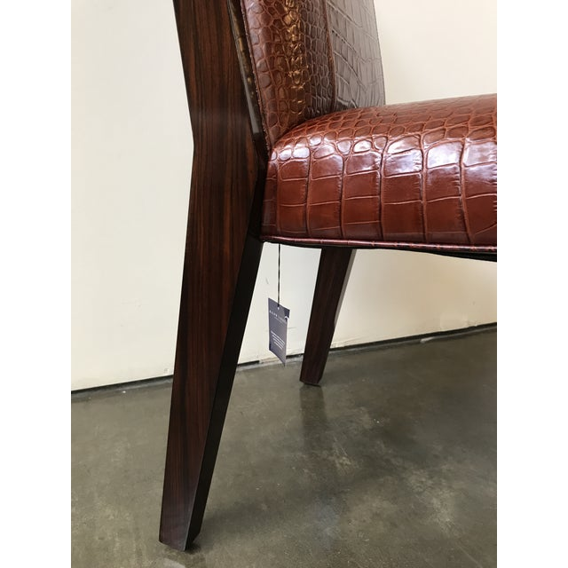 Brown Ralph Lauren Home Modern Metropolis Leather Side Chair For Sale - Image 8 of 10