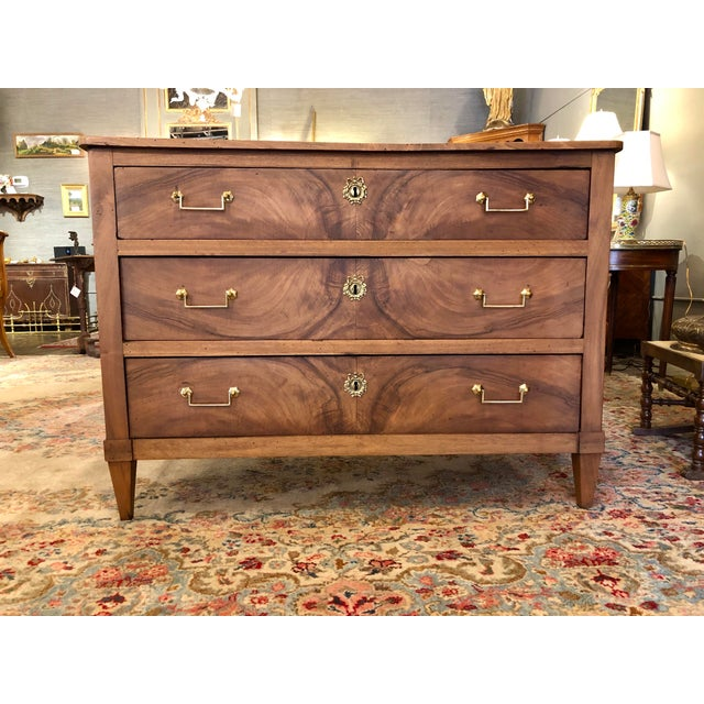 Louis XVI Period 3 Drawer Mahogany Chest For Sale - Image 10 of 10