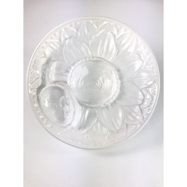 White Vintage Portuguese Majolica Neuwirth Artichoke Footed Plate For Sale - Image 8 of 8