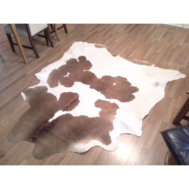Leather Authentic Cow Hide Rug - 5′11″ × 6′11″ For Sale - Image 7 of 7
