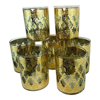 Culver Valencia Lowball Cocktail Glasses - Set of 7 For Sale