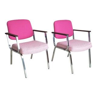 Pink Accent Chairs - a Pair