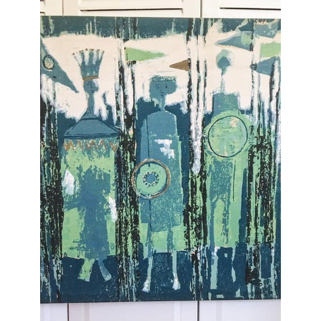 The Age of Kings in Blue Textile Art by Tibor Reich For Sale In Richmond - Image 6 of 11