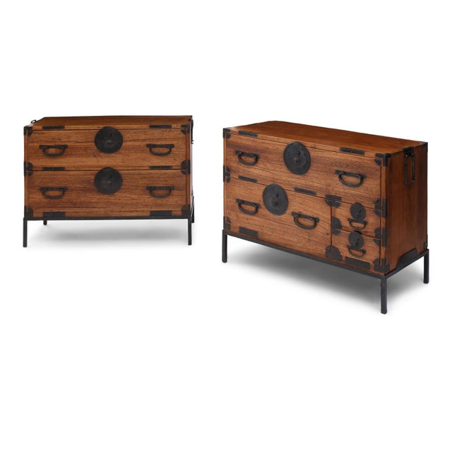 Pair of Tansu Bedside Tables For Sale In Houston - Image 6 of 13