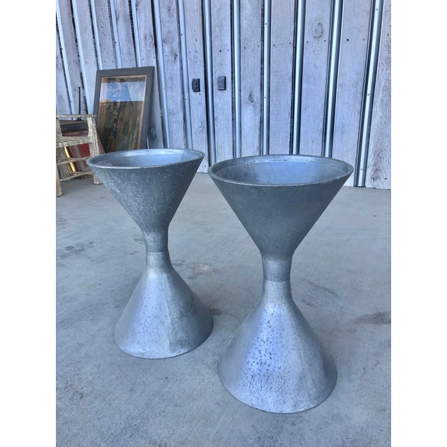 Mid-Century Modern 1960s Midcentury Hourglass Belgian Planters in the Style of Willy Guhl For Sale - Image 3 of 6