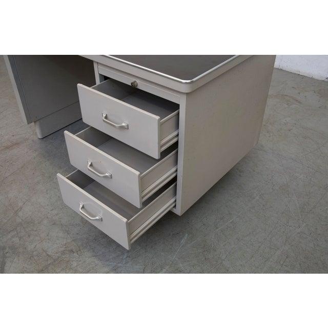 Industrial Metal Mini Tank Desk - Image 7 of 10