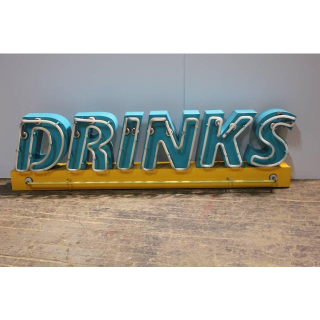 1980s neon drinks sign. New wiring.