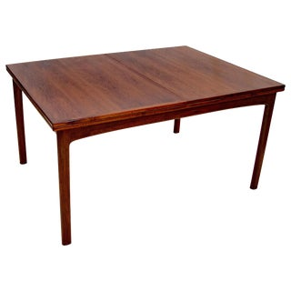 Walnut Dining Table, Two Flip Top Extensions, Dux of Sweden For Sale