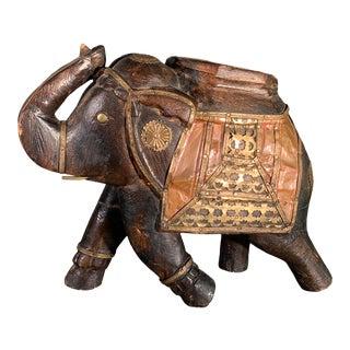 Vintage Indian Ceremony Elephant Ornate Copper Brass For Sale