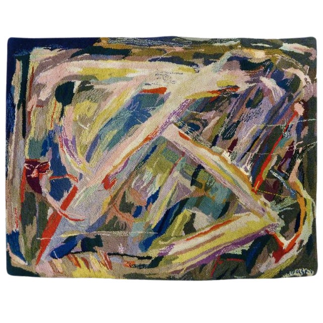 Miripolsky Abstract Expressionist Tapestry - Image 1 of 4