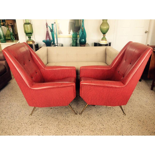 1960s Vintage Italian Gio Ponti Style Chairs - A Pair For Sale - Image 9 of 11