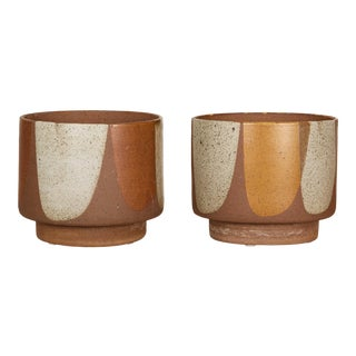 "Pair of David Cressey ""Flame-Glaze"" Pro/Artisan Planters for Architectural Pottery For Sale"
