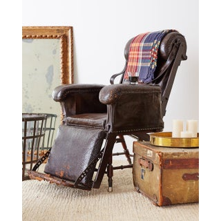 19th Century French Napoleon III Leather Reclining Armchair Preview