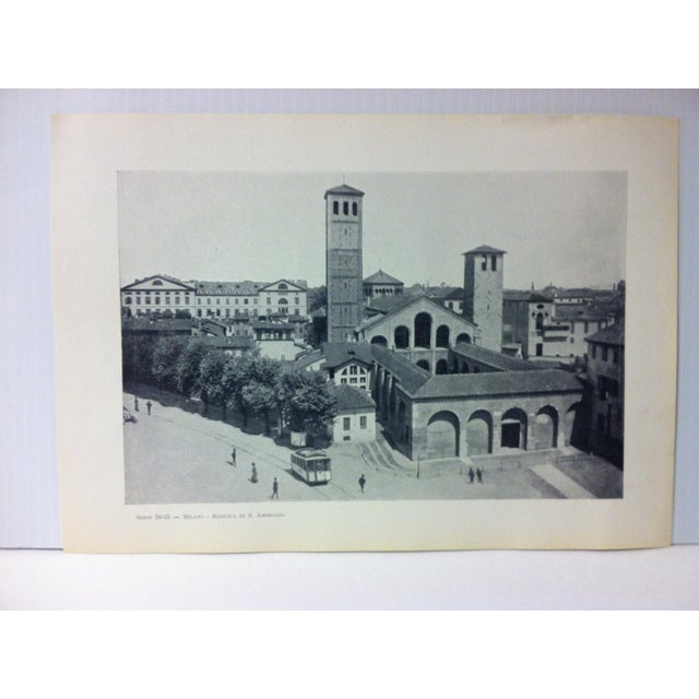 """This is a Vintage Print on Paper of Milano, Italy that is titled """"Basilica Di S. Ambrogio"""". The Print was Published in..."""
