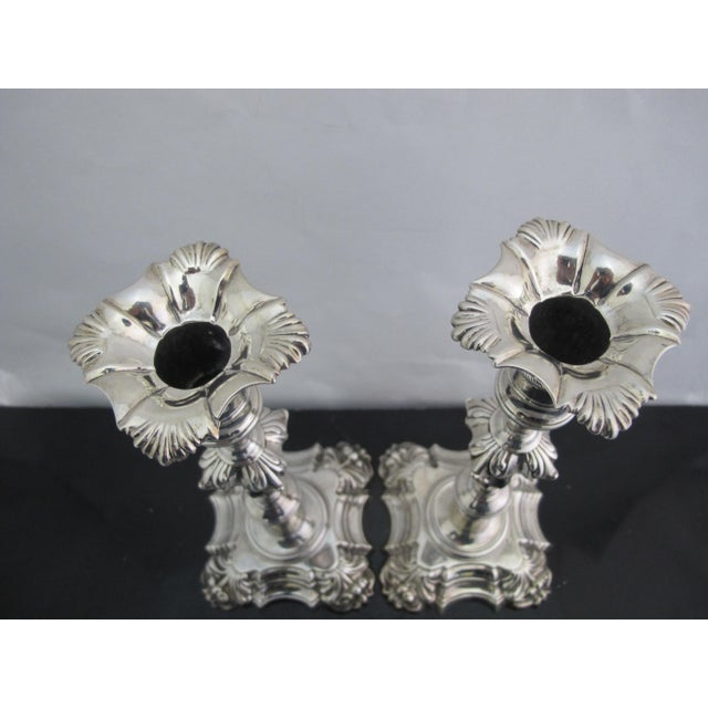 18th Century Antique George II Sterling Silver Candlestick John Cafe London 1752 - a Pair For Sale - Image 5 of 13