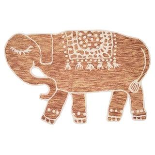 Terracotta Animal Skin Design Rug - 4′ × 6′ For Sale