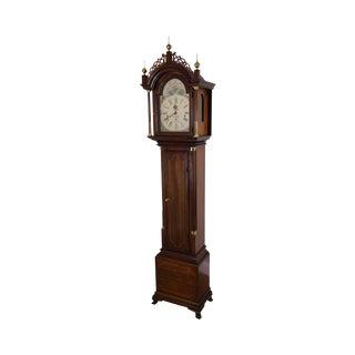 Sligh Aaron Willard Federal Mahogany Grandfather Clock For Sale