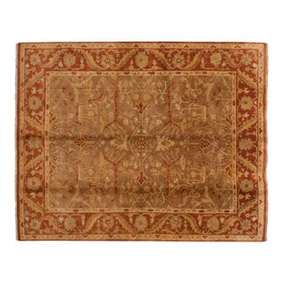 New Gold Wash Indian Oushak Design Carpet - 8' X 10' For Sale