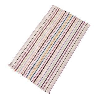 Vintage Striped Rag Rug For Sale