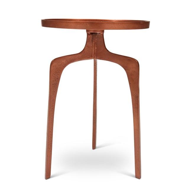 Kim End Table, Vintage Copper For Sale - Image 4 of 7