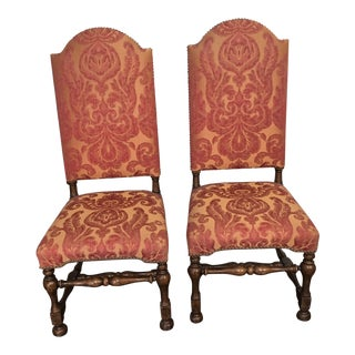 Holly Hunt Upholstered Host Dining or Accent Chairs- a Pair For Sale