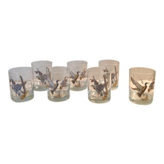 Mid-Century Duck Highball Glasses - Set of 7 For Sale