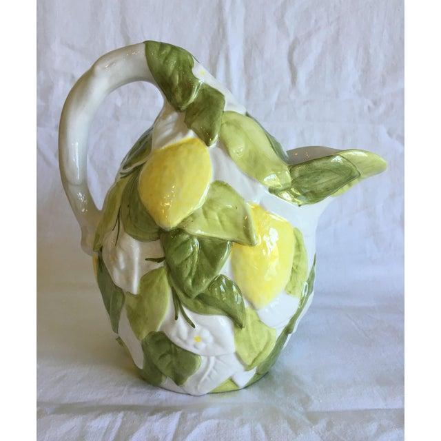 Italian San Marco Lemon Shaped and Lemon Embellished Pitcher For Sale - Image 13 of 13