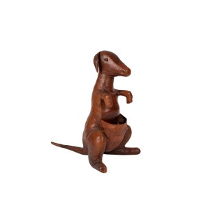 Abercrombie & Fitch 1940s Omersa Kangaroo in Brown Leather For Sale