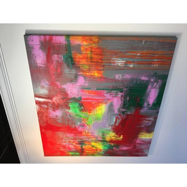 """Contemporary Abstract Oil Painting """"Obscura"""" by Mirtha Moreno For Sale In West Palm - Image 6 of 8"""