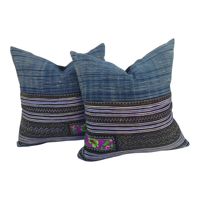 Embroidered Batik Tribal Pillows For Sale