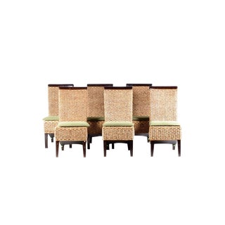Braided Sea Grass Dining Chairs - Set of 6