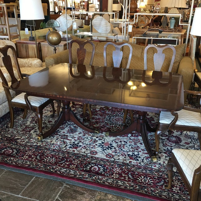 Queen Anne Style Expandable Dining Set Chairish