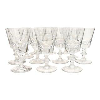 Val Saint Lambert Wine Glasses - Set of 12 For Sale