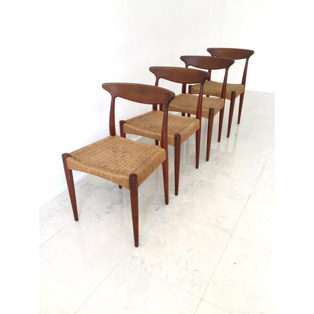 Arne Hovmand Olsen Teak Dining Chairs -Set of 4 For Sale - Image 7 of 10