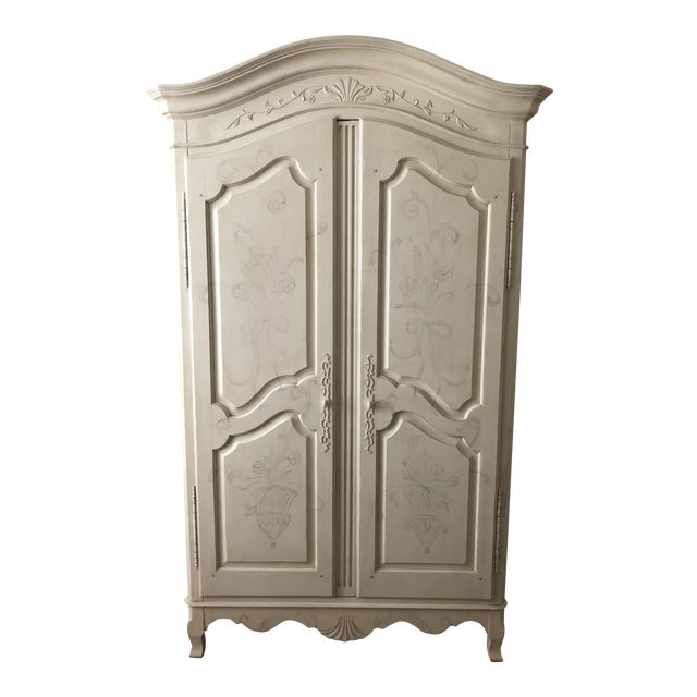 Ethan Allen Traditional White Armoire For Sale
