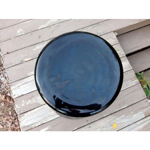 Glass Vintage Pilgrim Masterwork Collection Black Art Glass Vase For Sale - Image 7 of 13