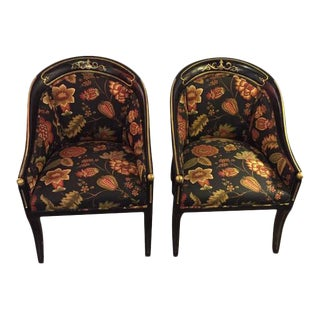 Hollywood Regency Style Regency Armchairs - A Pair For Sale